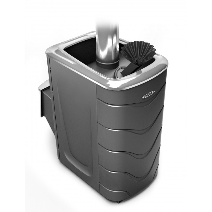 Печь для бани ТМФ Гейзер 2014 Carbon, нерж.дверца, закр.каменка, антрацит