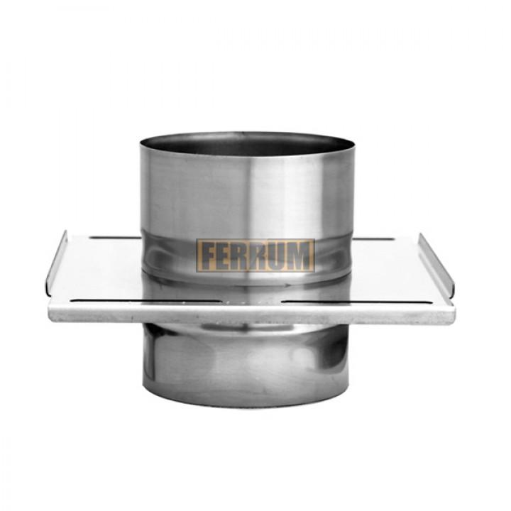 Площадка Феррум монтажная одностенная (430/0.8 мм), ф115, по воде