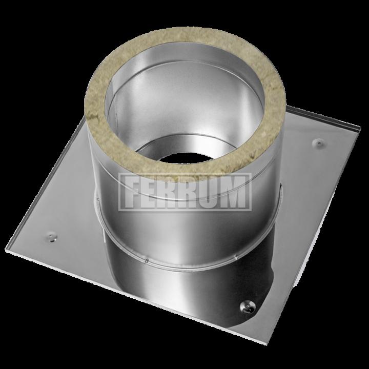 Разделка Феррум потолочная нержавеющая (430/0,5 мм), 600 ф210 с утеплителем