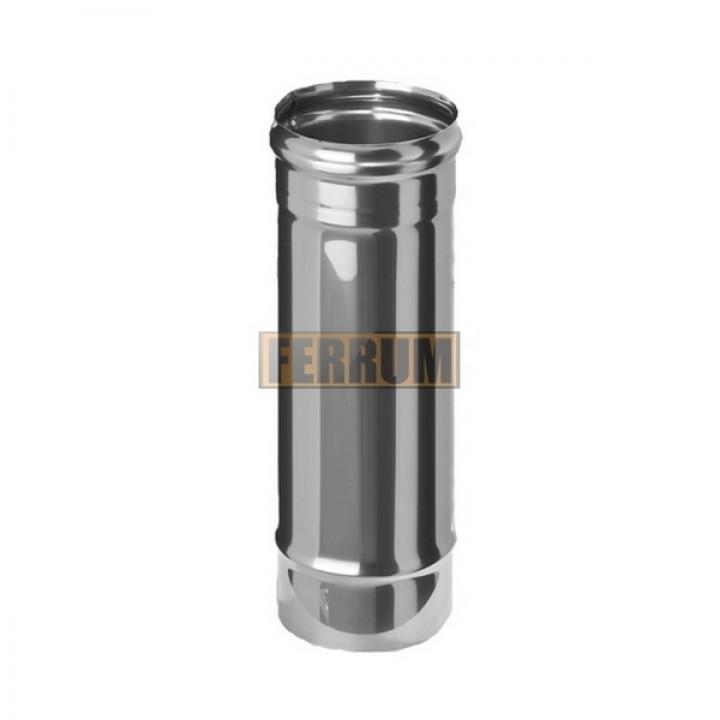 Дымоход Феррум нержавеющий (430/0,5 мм), ф115, L=0,5м