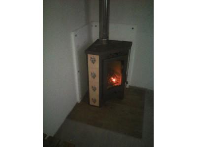 Установка печь-камин Бавария Угловая Незабудка